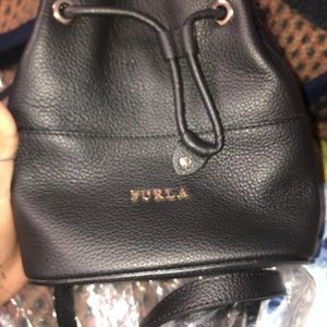 Furla black mini bag
